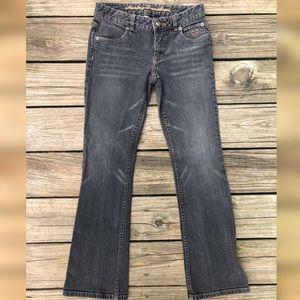 Harley Davidson Motorcycle Jeans Faded Gray Boot